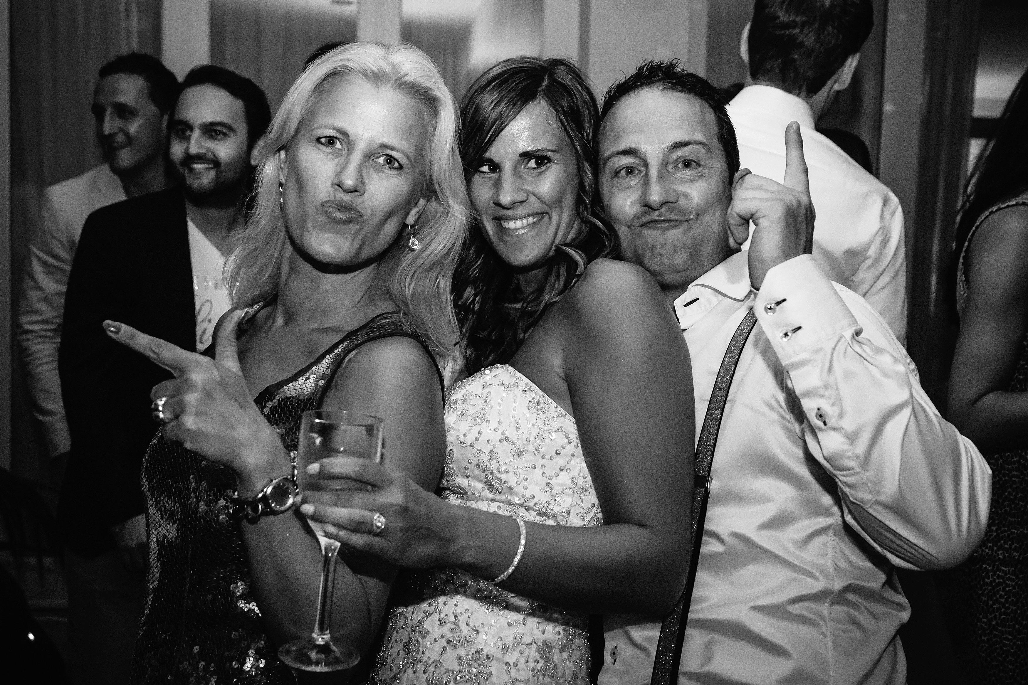 bruidsfoto's feest