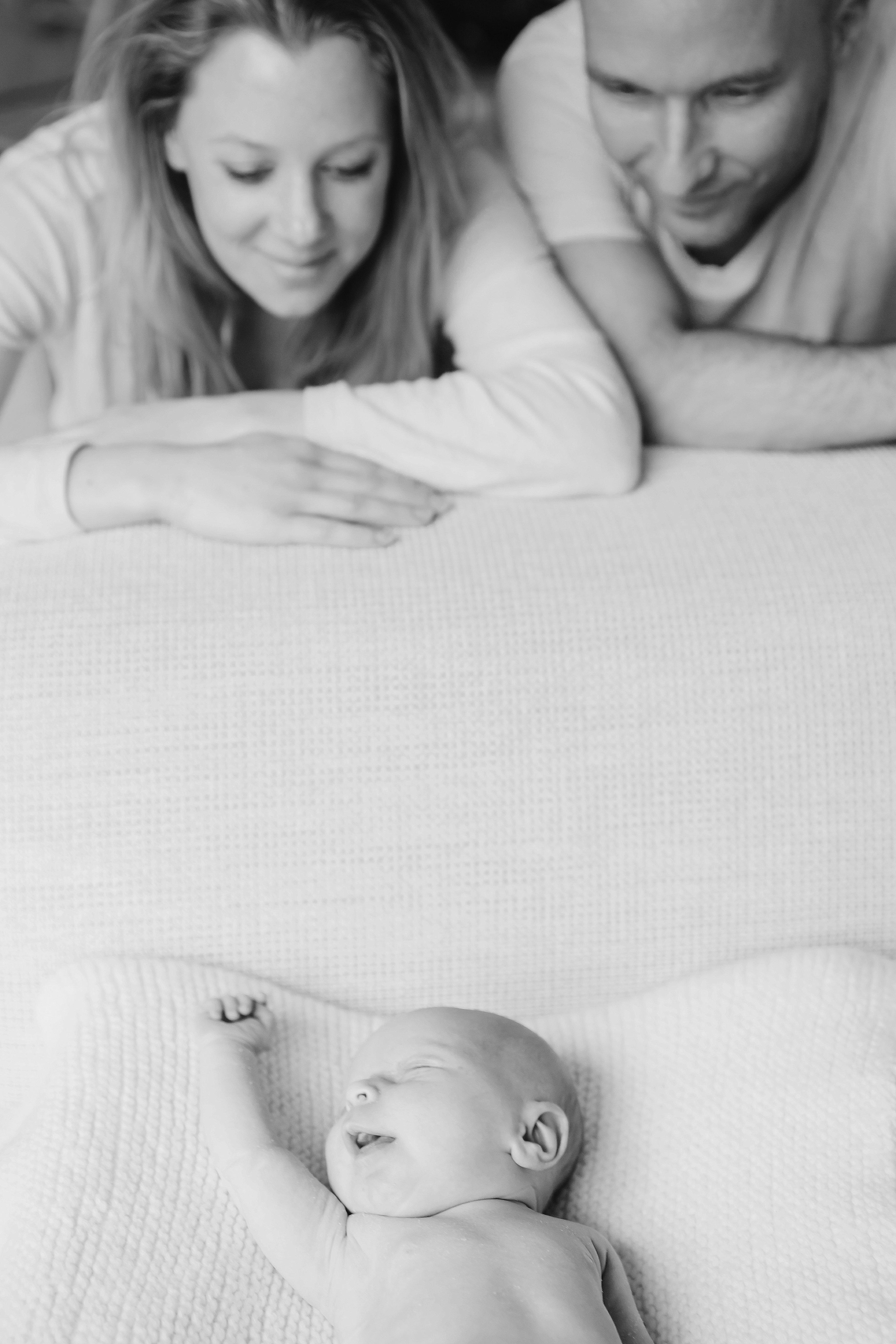 geboortekaartje met foto van newbornshoot