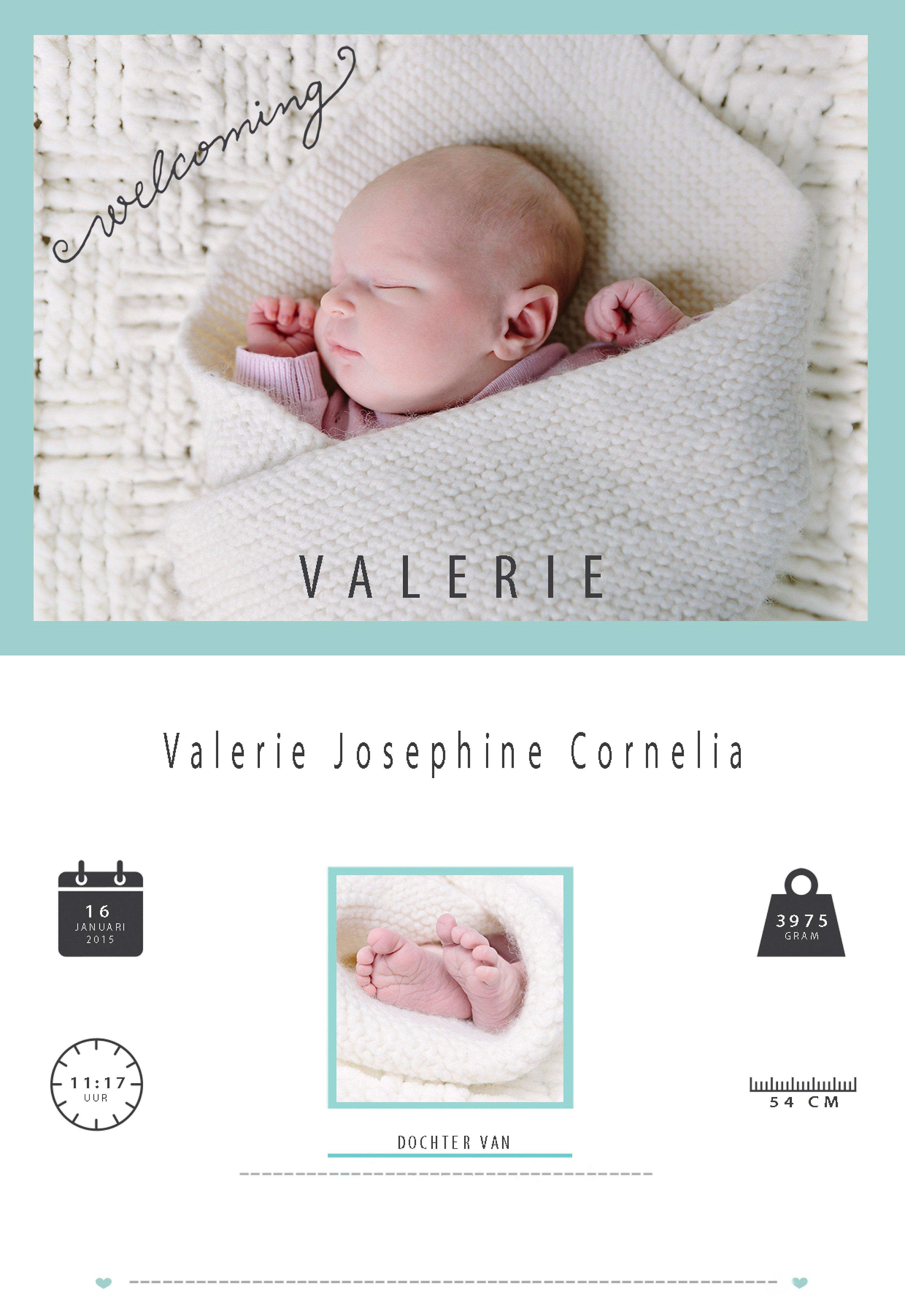 geboortekaartje met foto van newbornshootgeboortekaartje met foto van newbornshoot