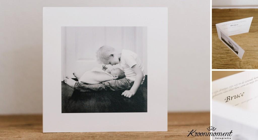 geboortekaartje met foto