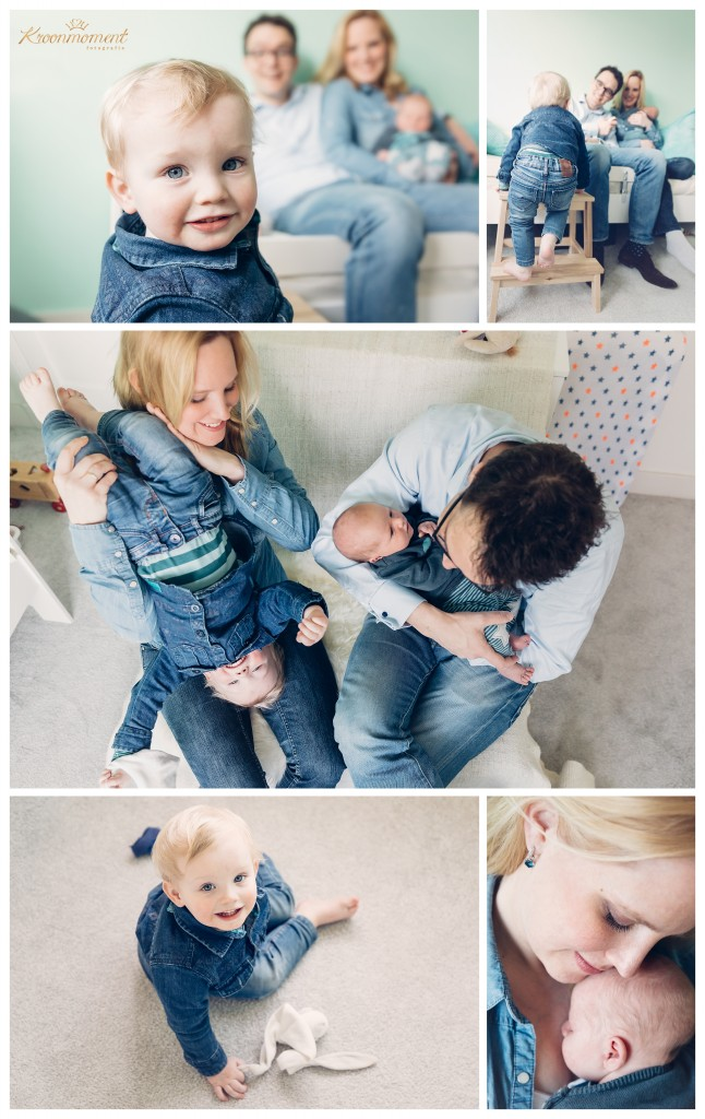 lifestyle newborn-gezinsfotografie thuis