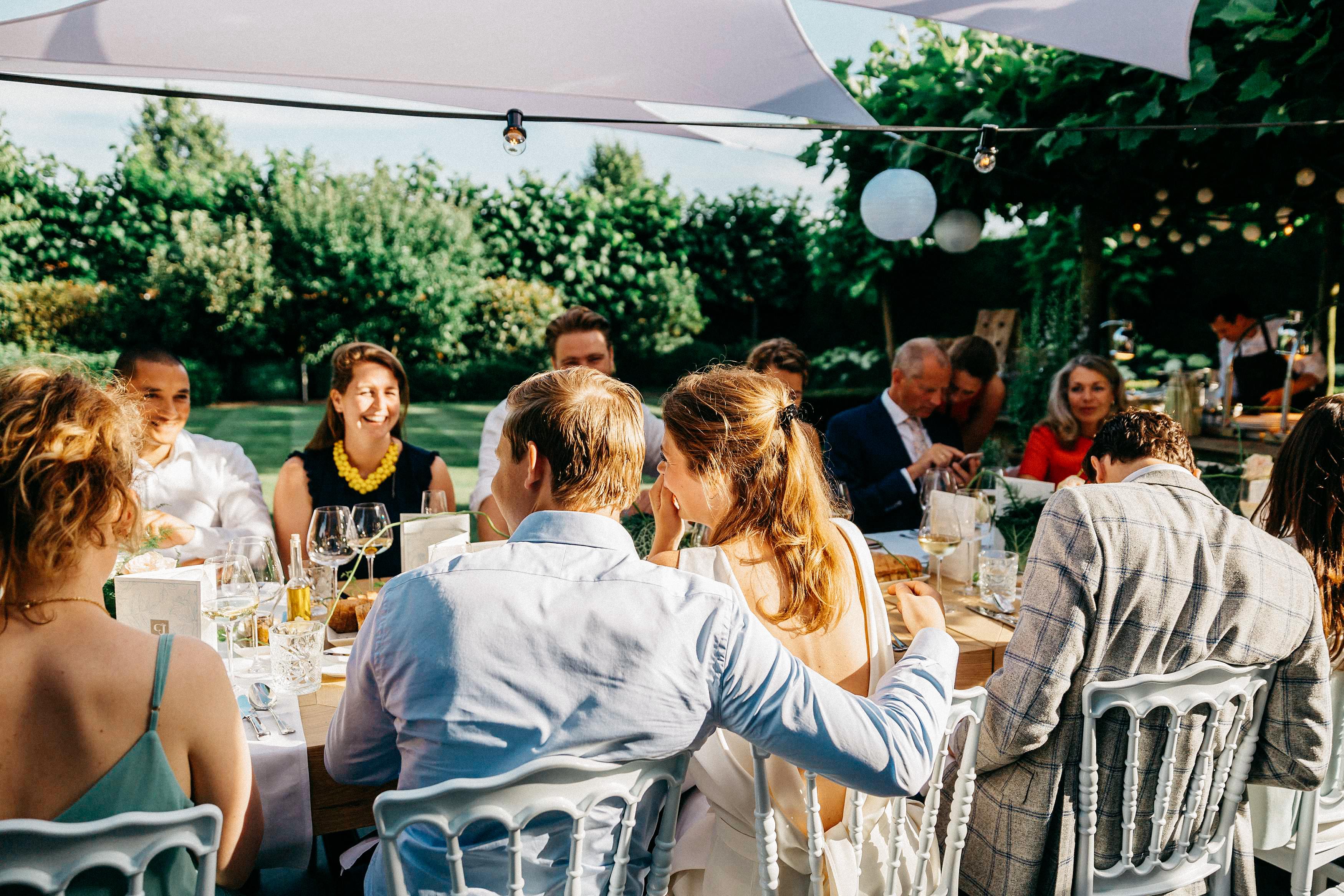 Pre wedding garden party