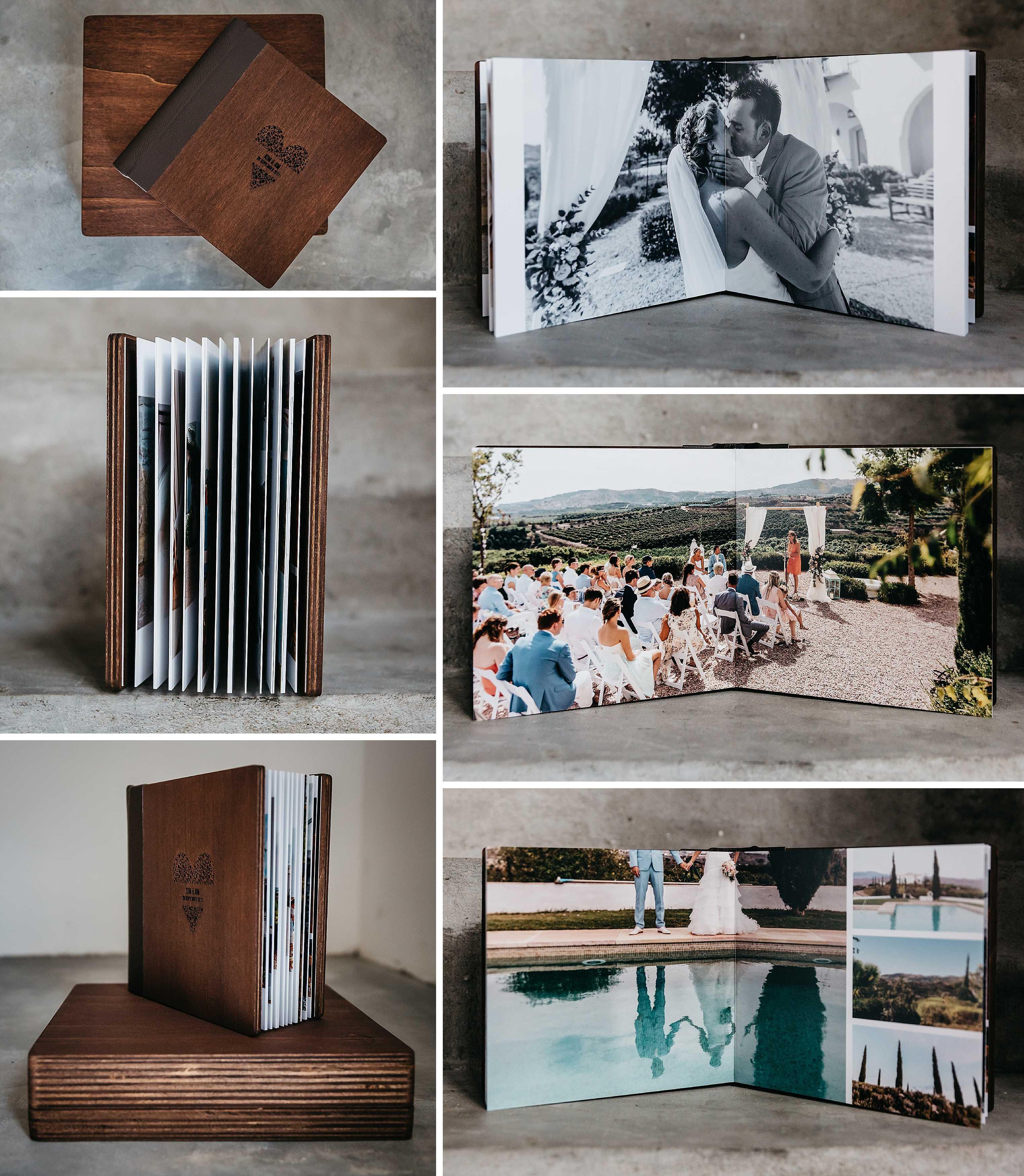 houten trouwalbum