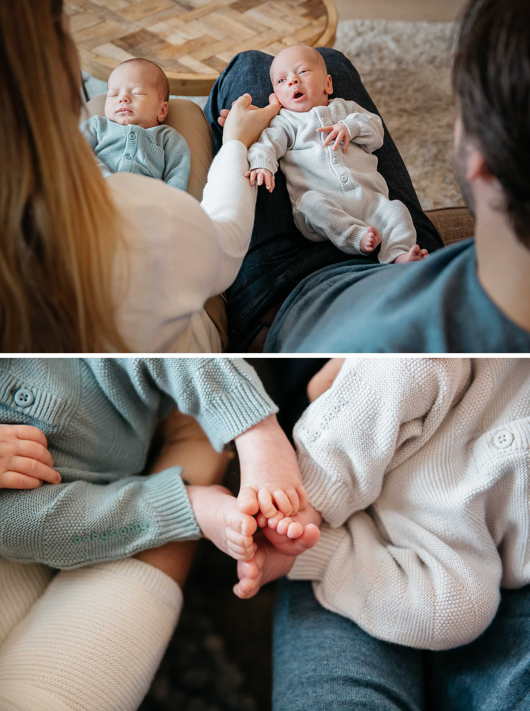 Newbornfotografie tweeling
